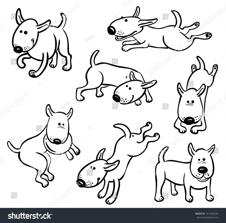 可爱的狗角色设置-动物/野生生物,公园/户外-海洛创意