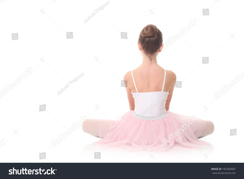 可爱的小女孩,打扮成一个芭蕾舞演员