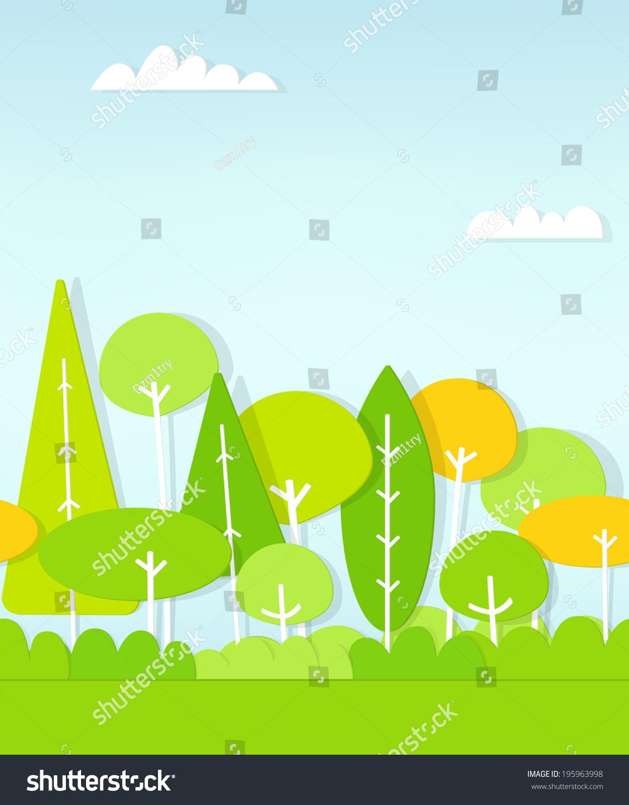 无缝模式卡通平森林-自然,公园/户外-海洛创意()-中国
