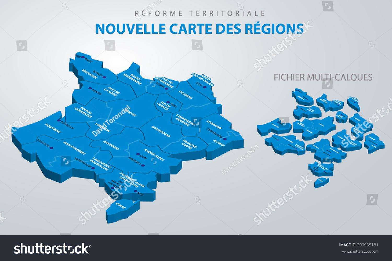 等距法国地图,土地改革-编辑-海洛创意(hellorf)-中国