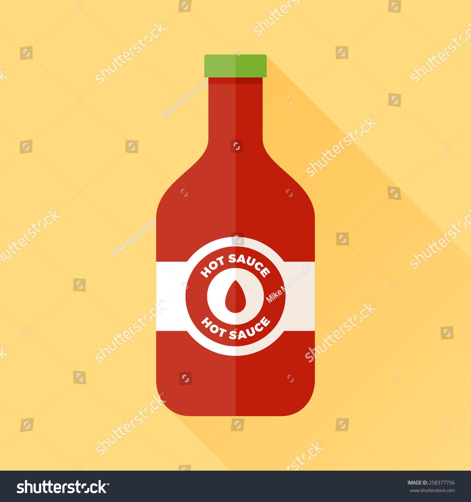 一瓶辣椒酱标签和绿色帽子-食品及饮料
