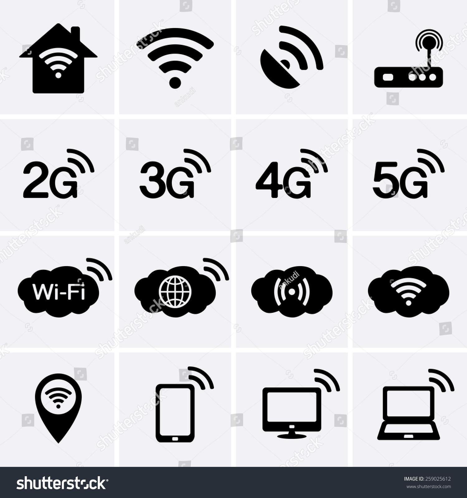 无线wifi图标.2g,3g,4g,5g技术符号.-科技,符号/标志