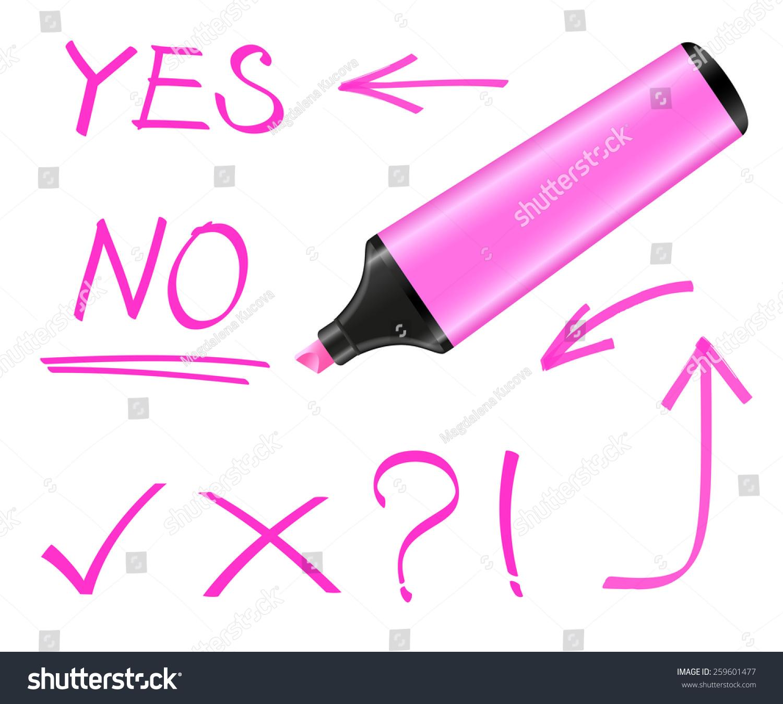 荧光笔和手绘元素