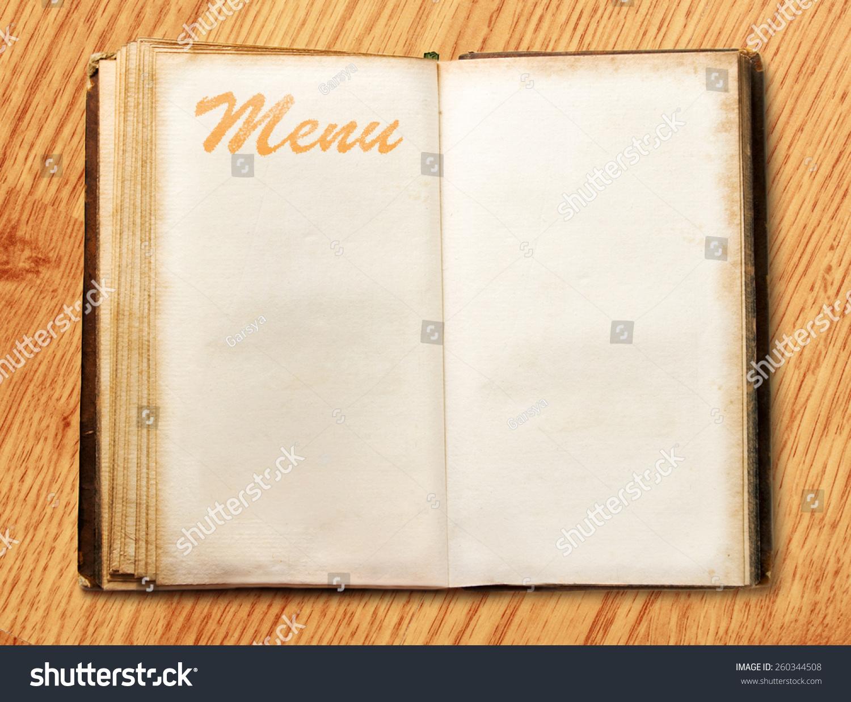 打开空白的菜单书背景-背景/素材,物体-海洛创意()-合