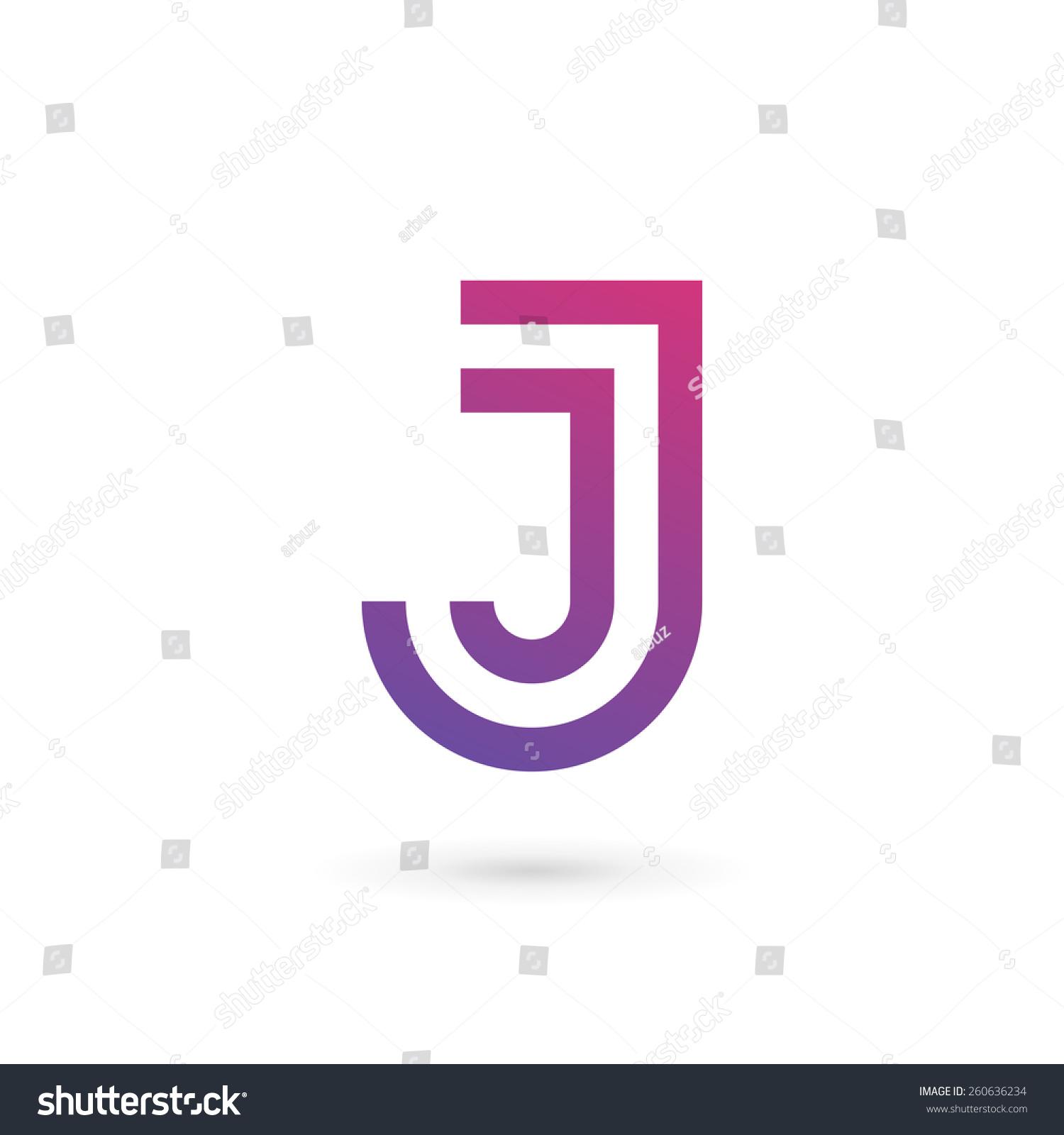 字母j标志图标设计模板元素-符号/标志