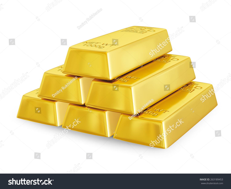 金条金块金字塔孤立-商业/金融,物体-海洛创意()-中国