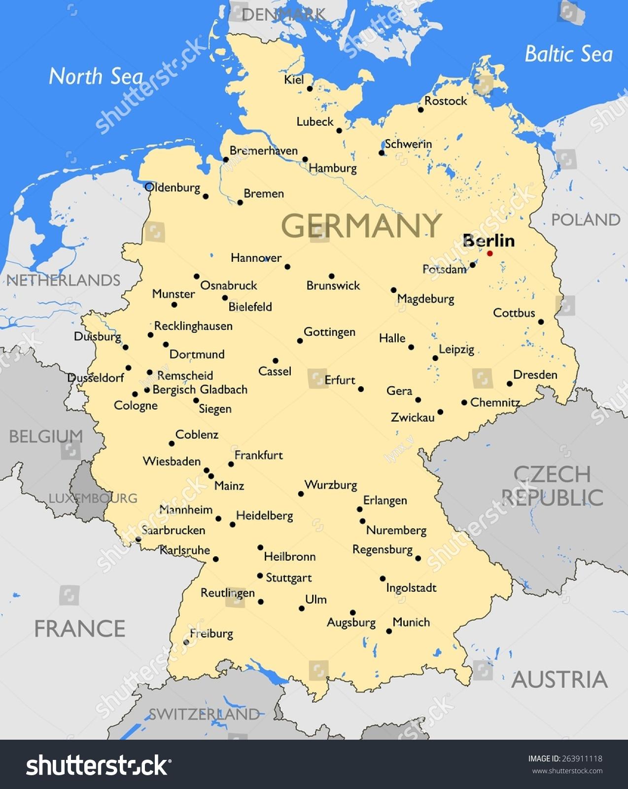 德国地图-背景/素材-海洛创意(hellorf)-shutterstock