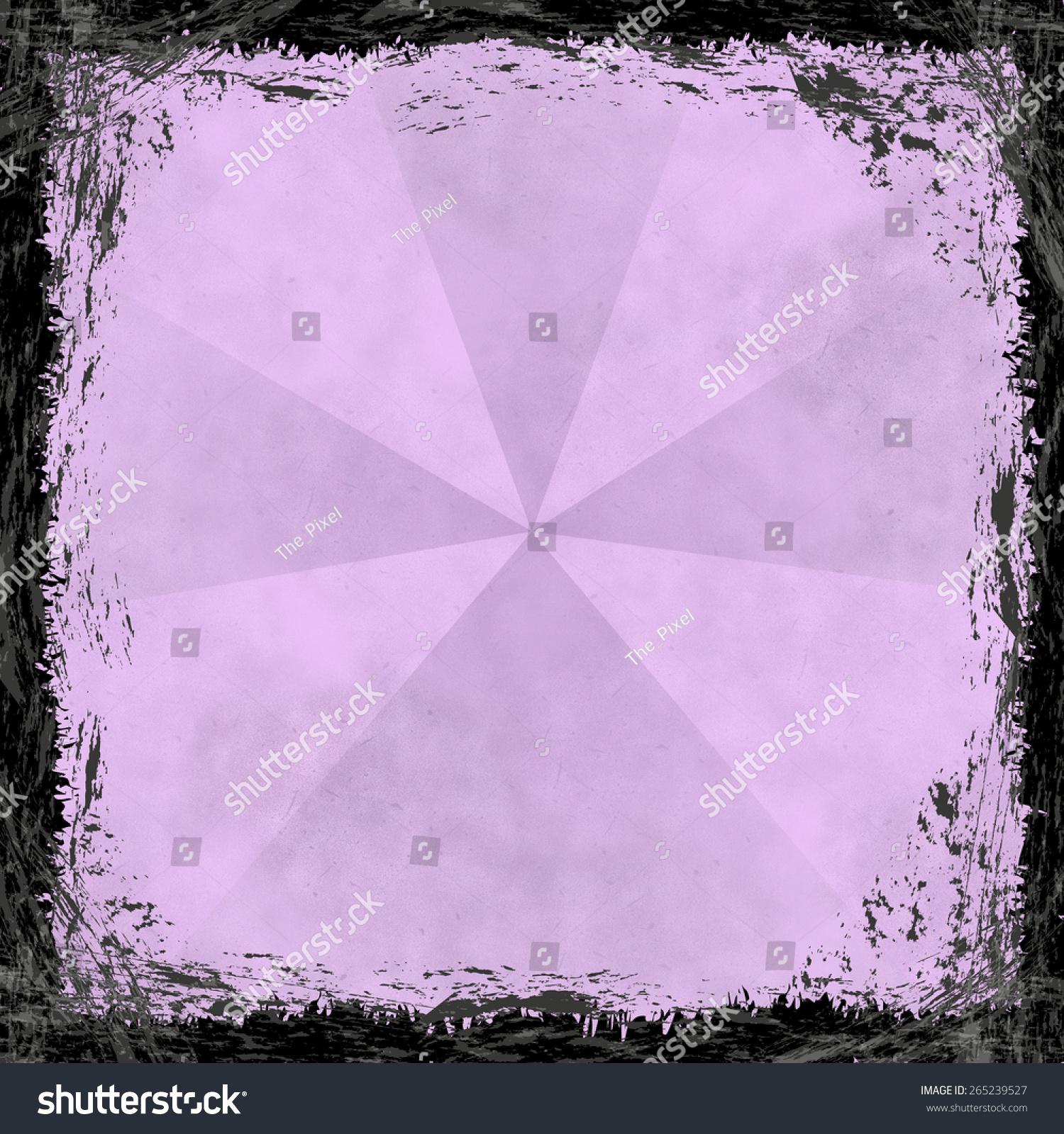 粉色古风风景画框