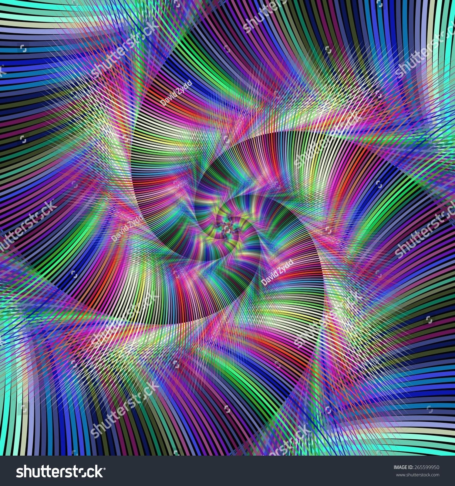 五彩缤纷的迷幻螺旋形背景设计-背景/素材,抽象-海洛
