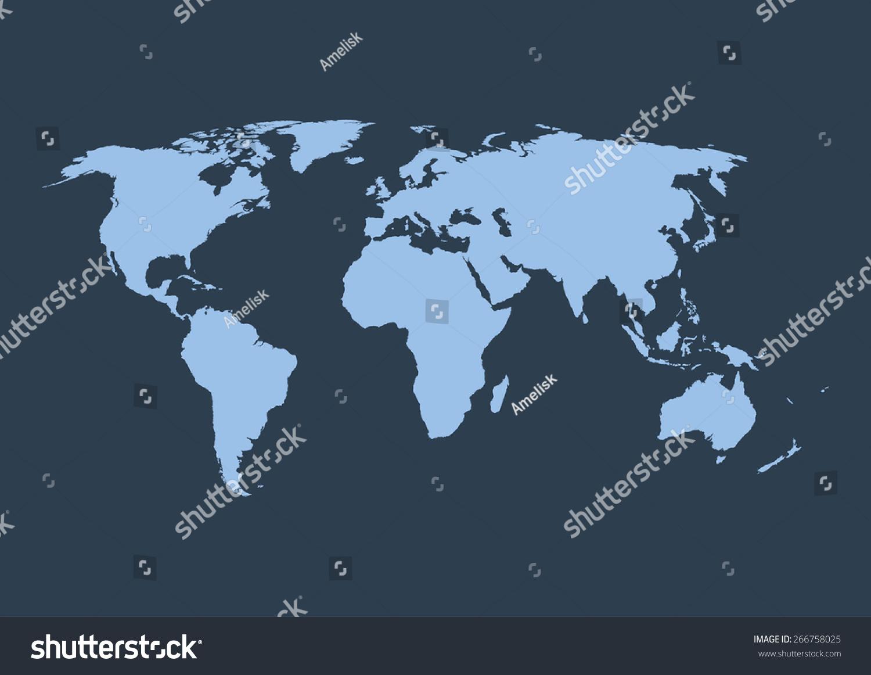 世界地图的矢量插图