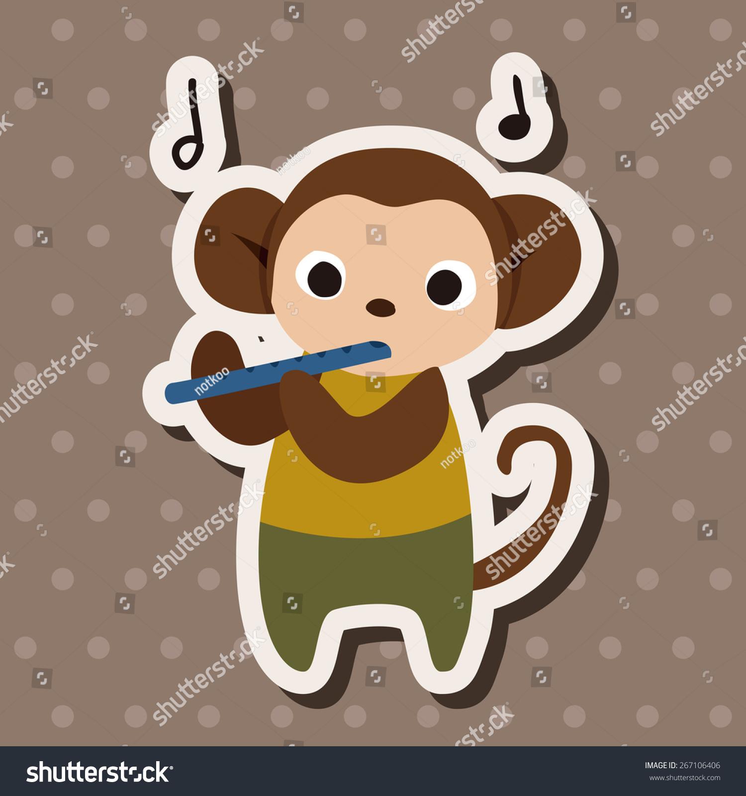 背景音乐动物猴子平图标元素