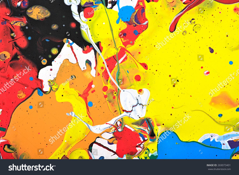 五彩缤纷的彩虹色斑纹理