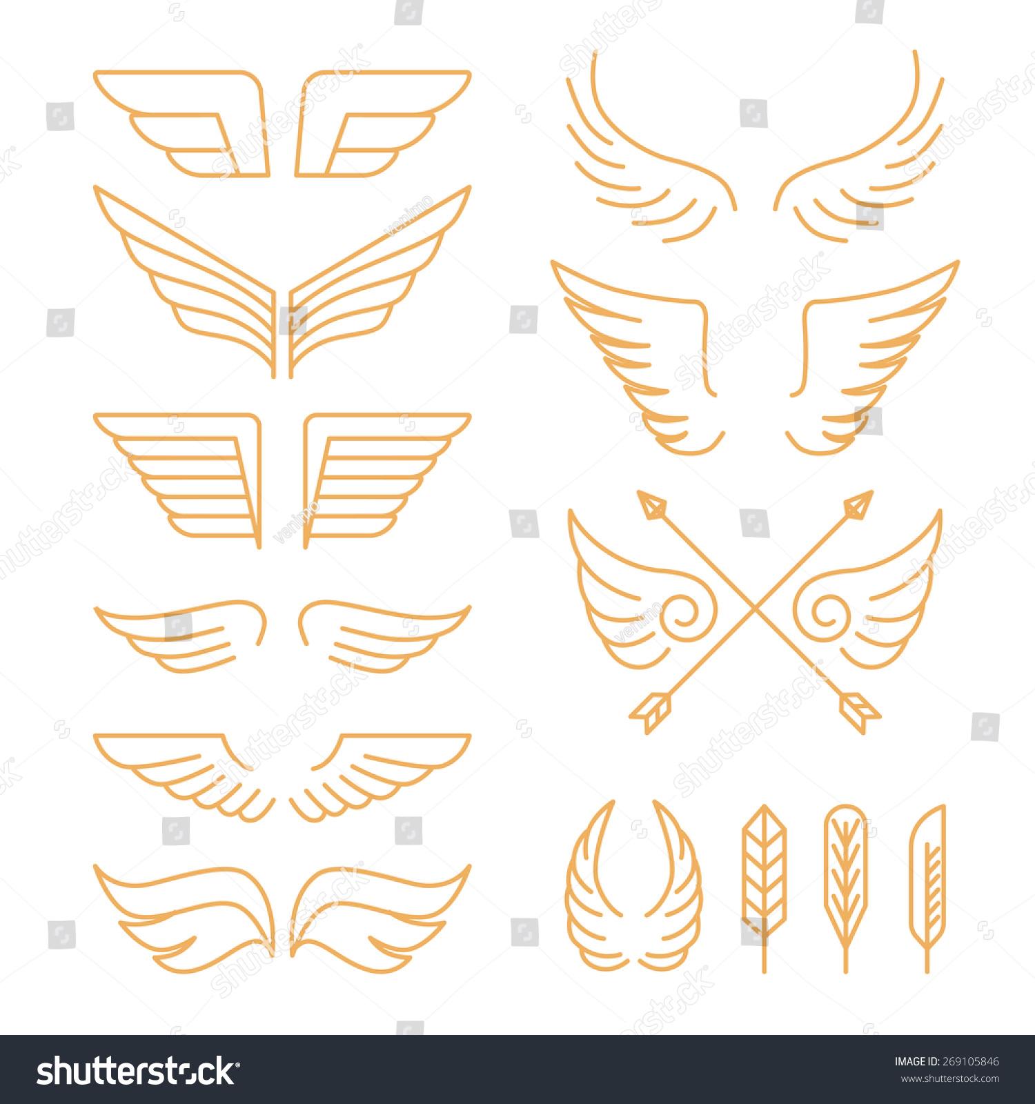 翅膀符号图案大全图片