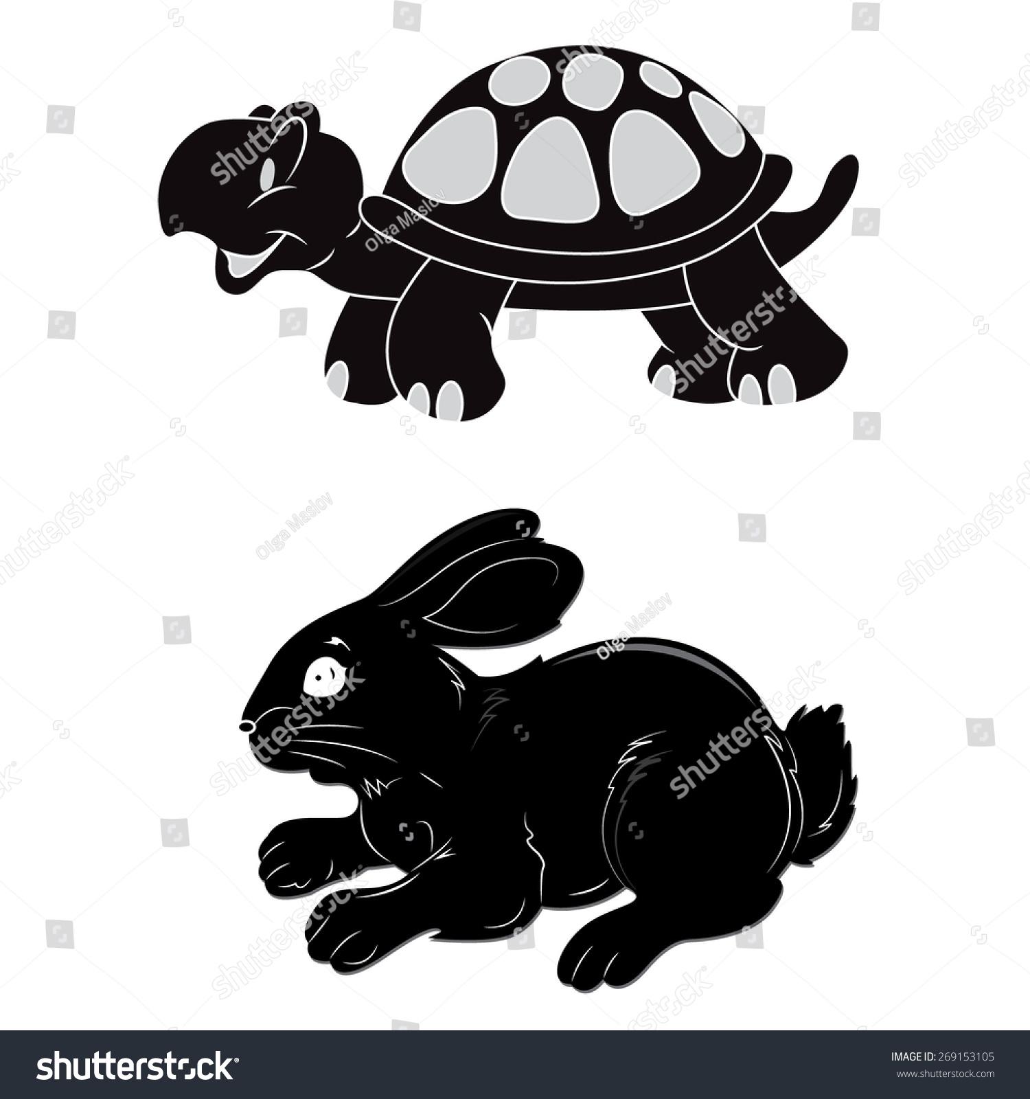 兔子,乌龟,速度,剪贴画-动物/野生生物