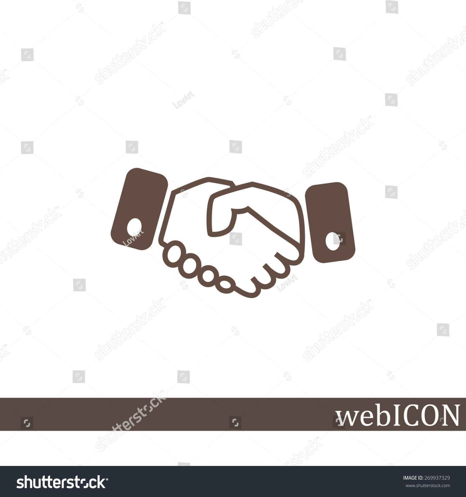 握手,网络图标.矢量设计-商业/金融,符号/标志-海洛()