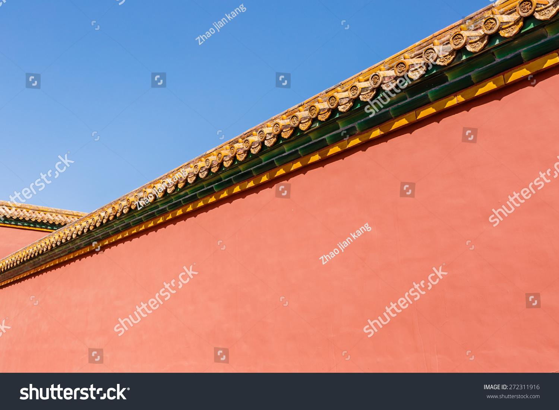 背景在北京紫禁城的红墙,中国.-背景/素材,美容/时装