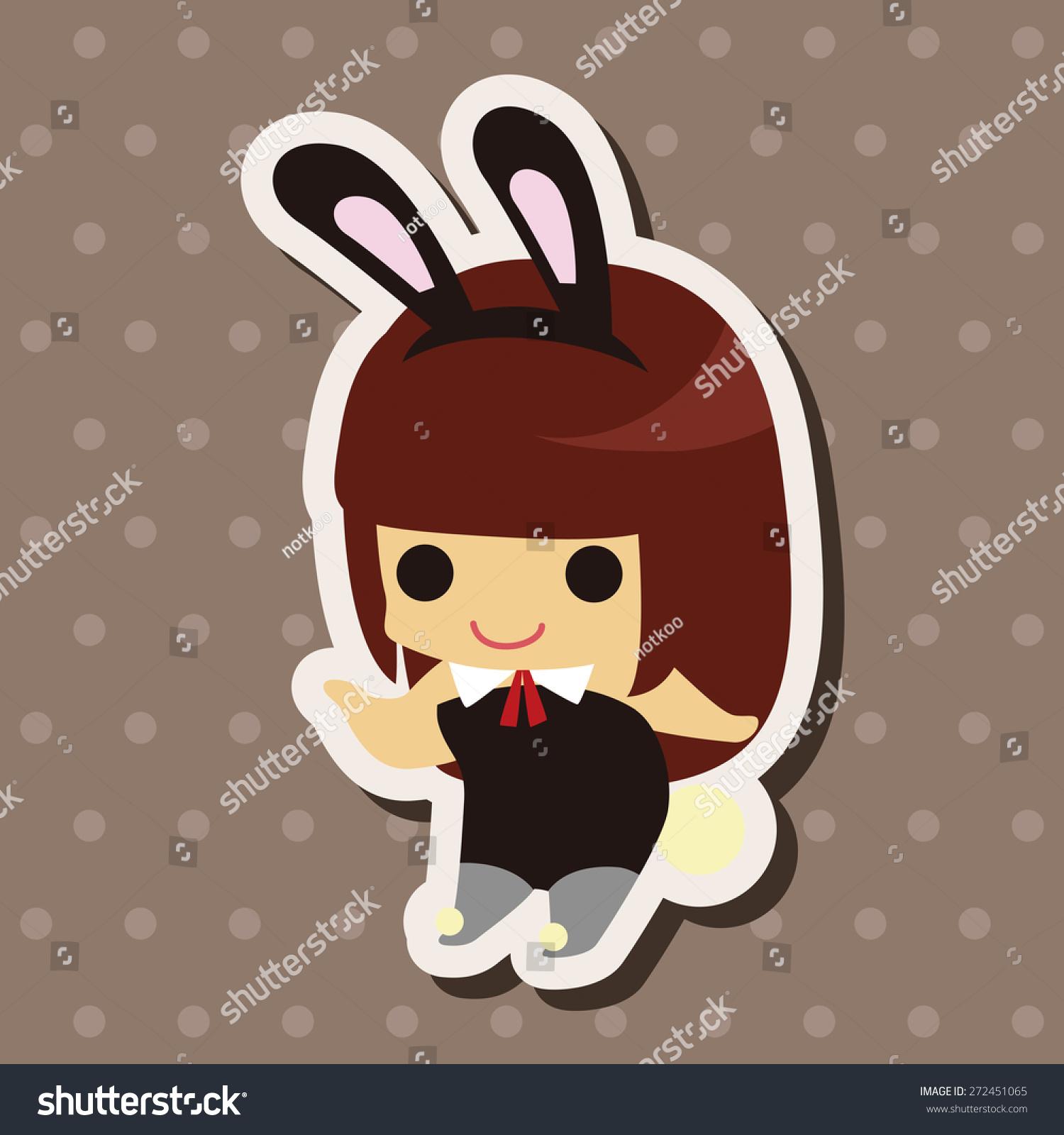 可爱兔子信封图片