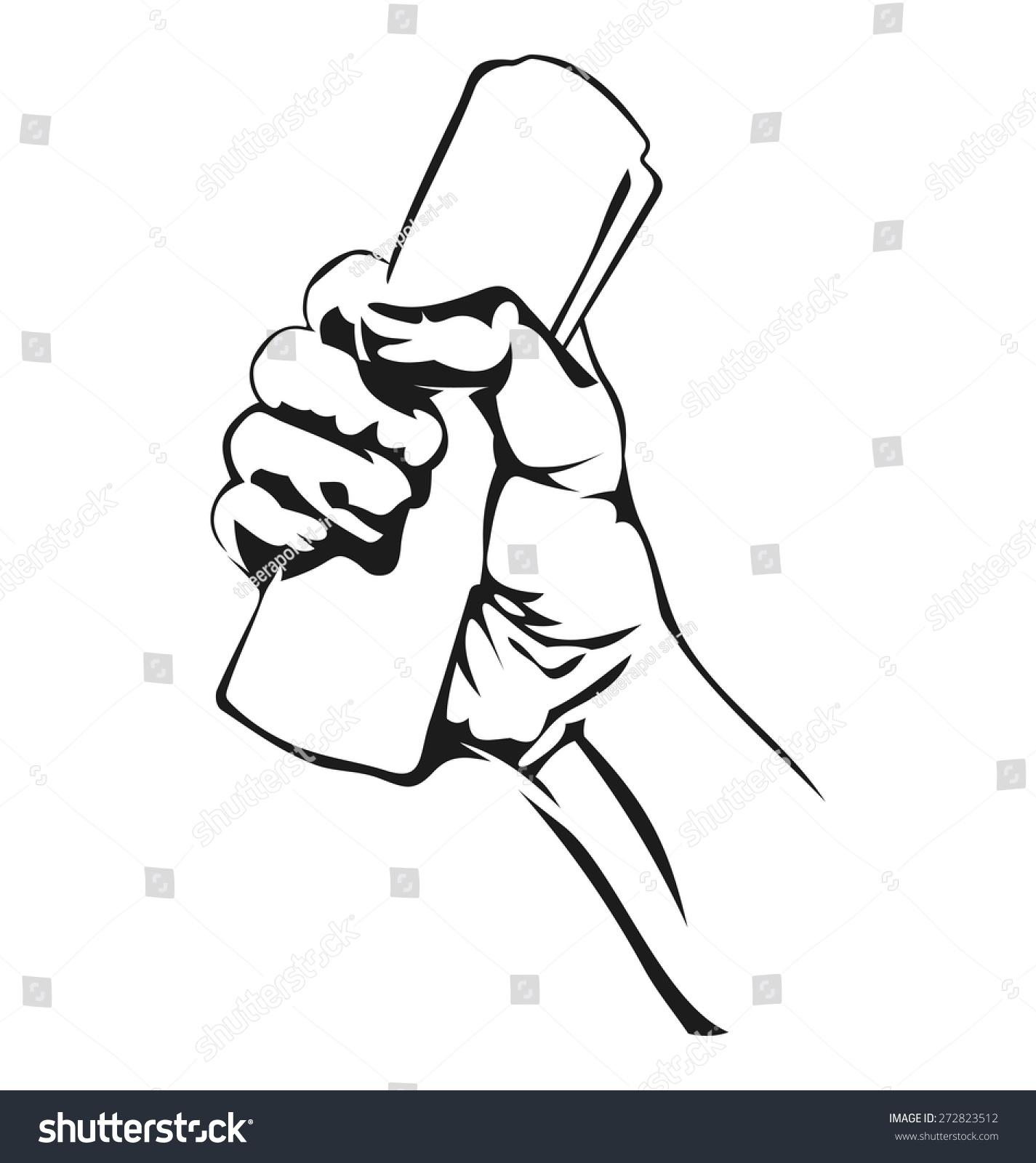手和卷纸的矢量图解-艺术,符号/标志-海洛创意()-中国