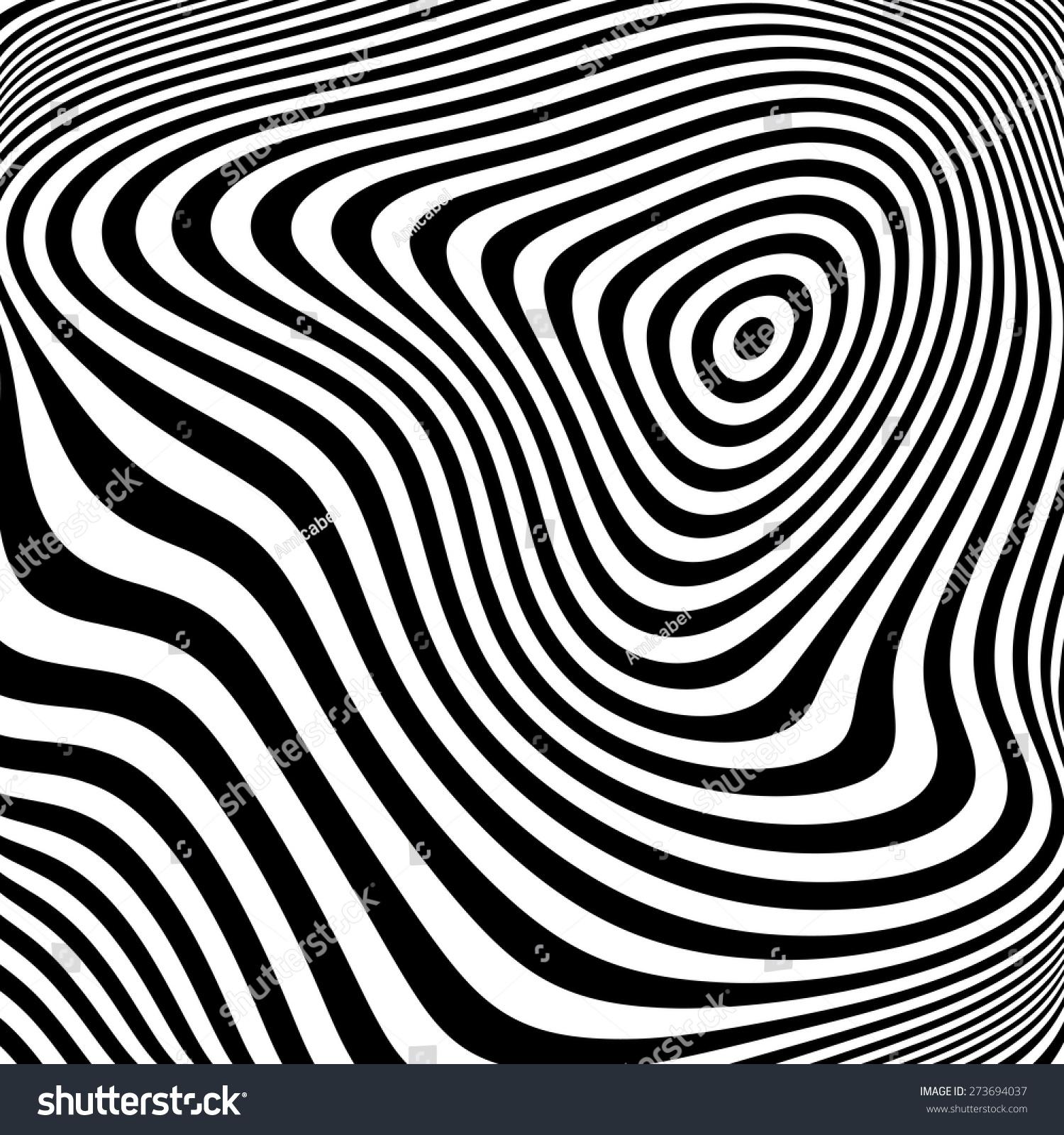 设计单色椭圆运动幻觉的背景.抽象条纹扭纹理