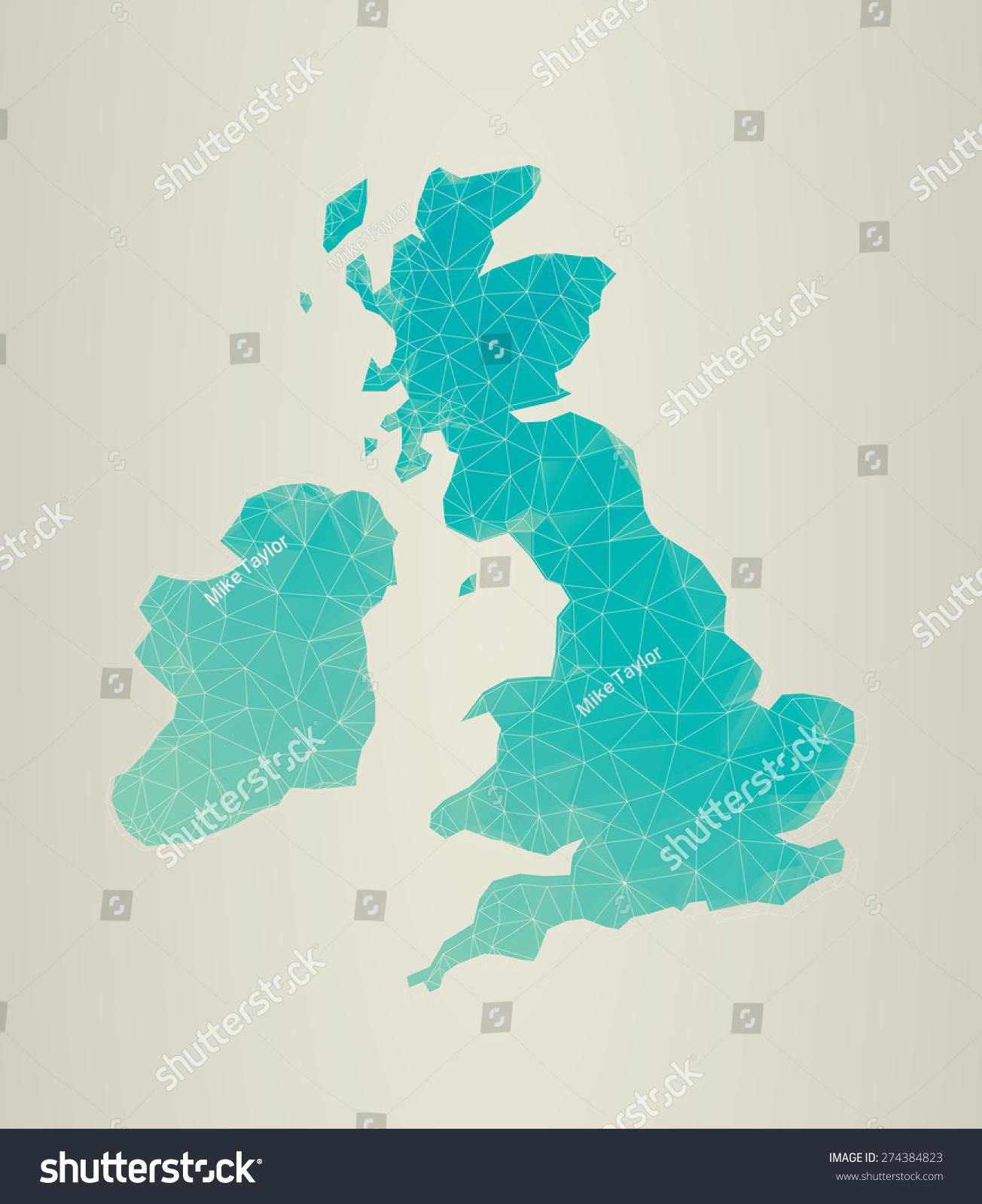 不列颠群岛的多边形向量-符号/标志