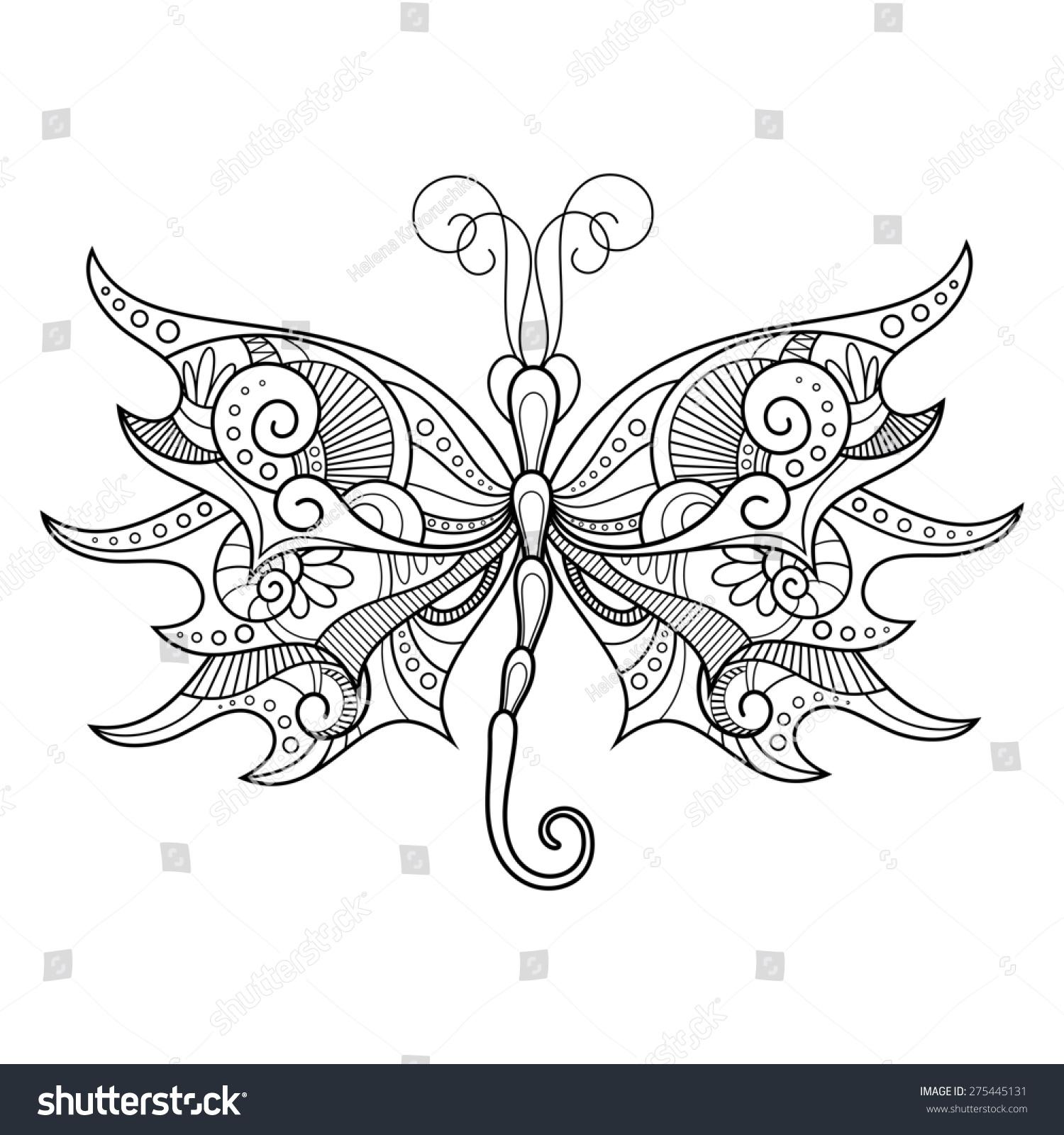 抽象的蜻蜓在白色背景.图案设计,纹身