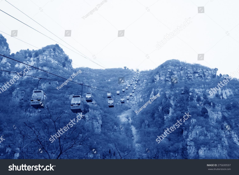 空中索道石林峡谷风景区,4月5日,2014年,中国北京平谷