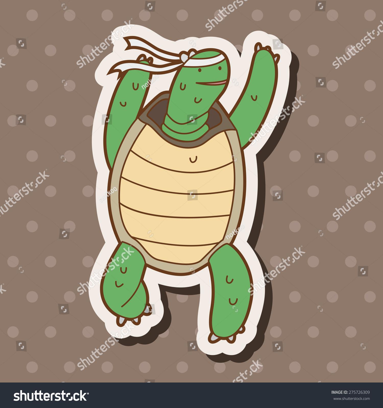 乌龟和兔子,卡通贴纸图标