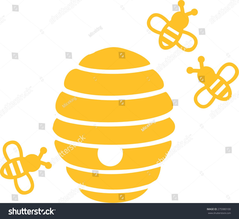 卡通蜂巢矢量图