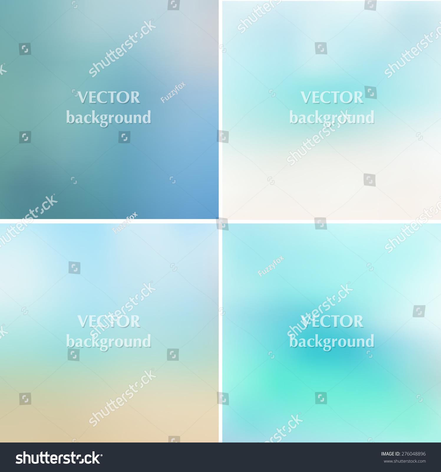 抽象的蓝色的大海夏天模糊向量背景设置10每股收益