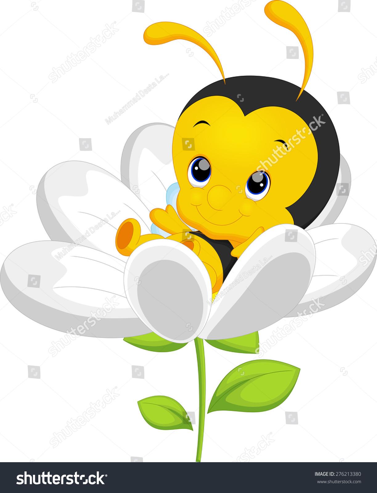 可爱的小蜜蜂在向日葵-动物/野生生物,自然-海洛创意