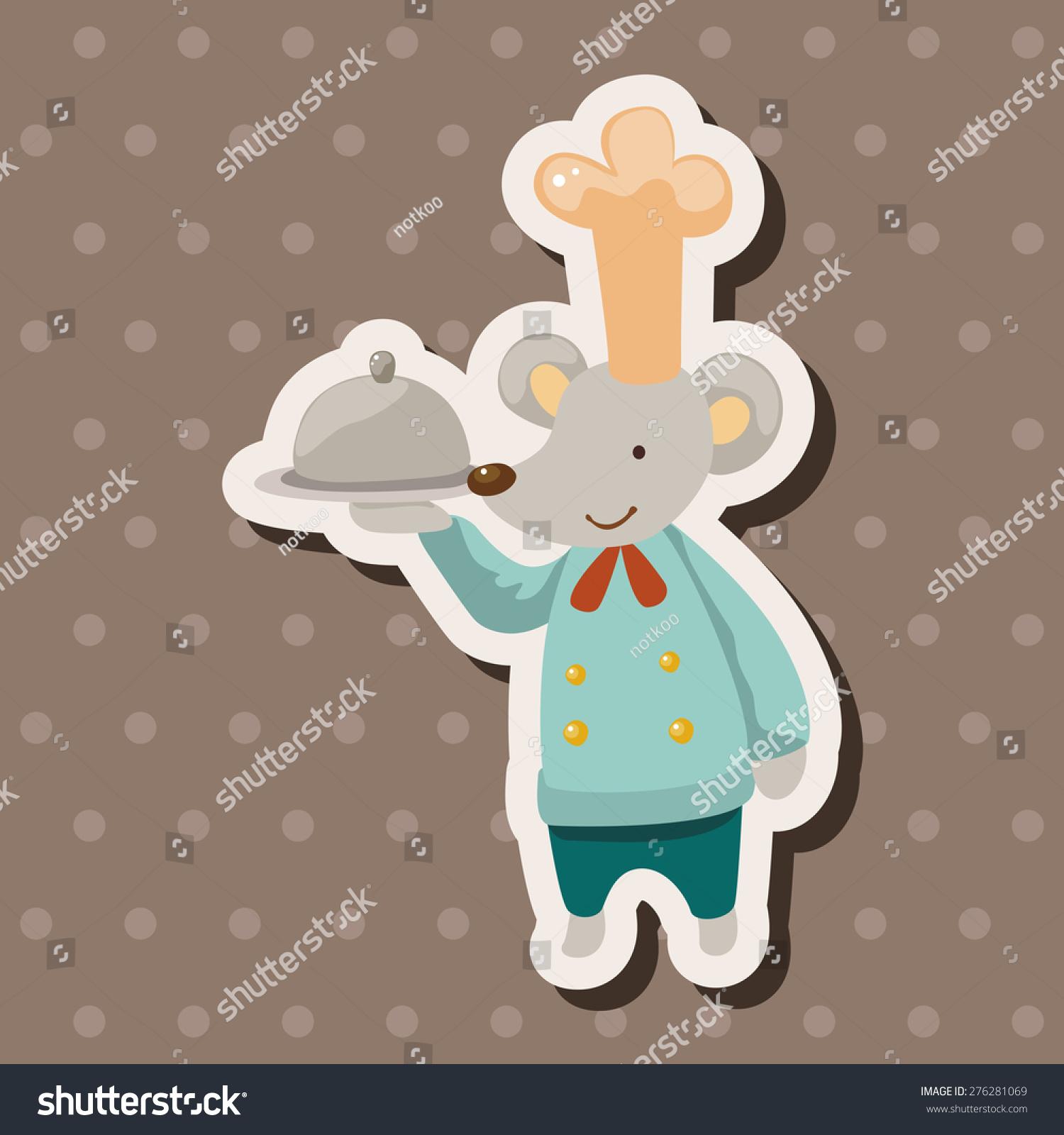 动物鼠标厨师卡通,卡通贴纸图标-物体-海洛创意()-合