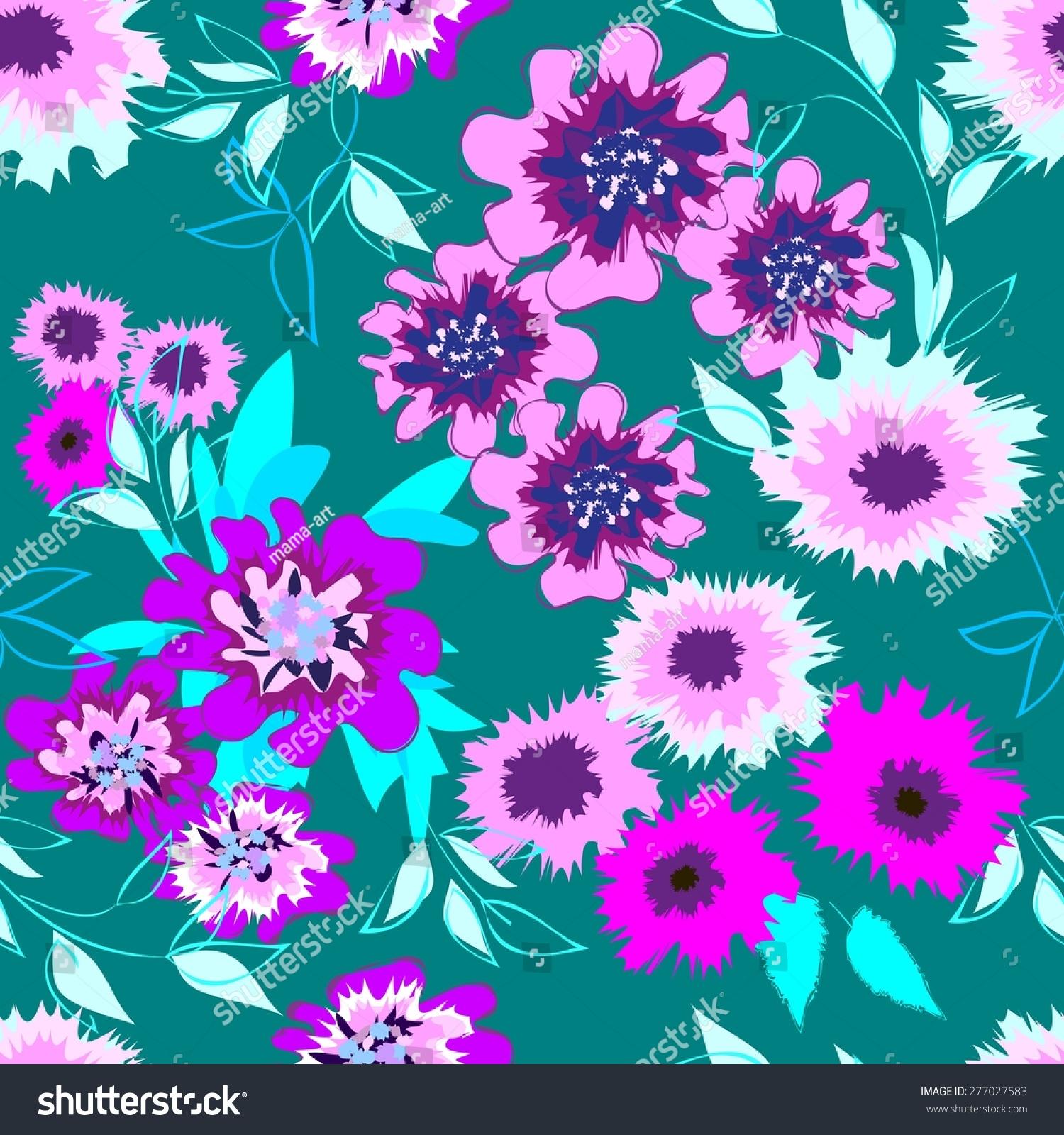 抽象花朵无缝模式的背景