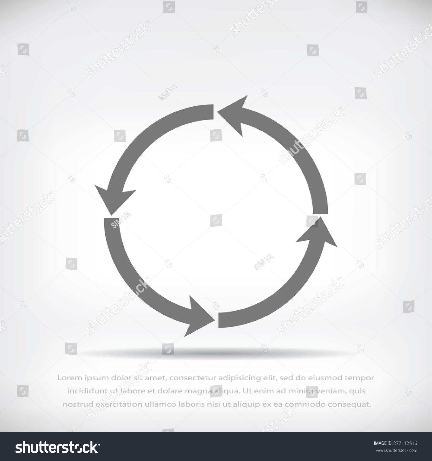 圆形箭头矢量图标-科技,符号/标志-海洛创意(hellorf)