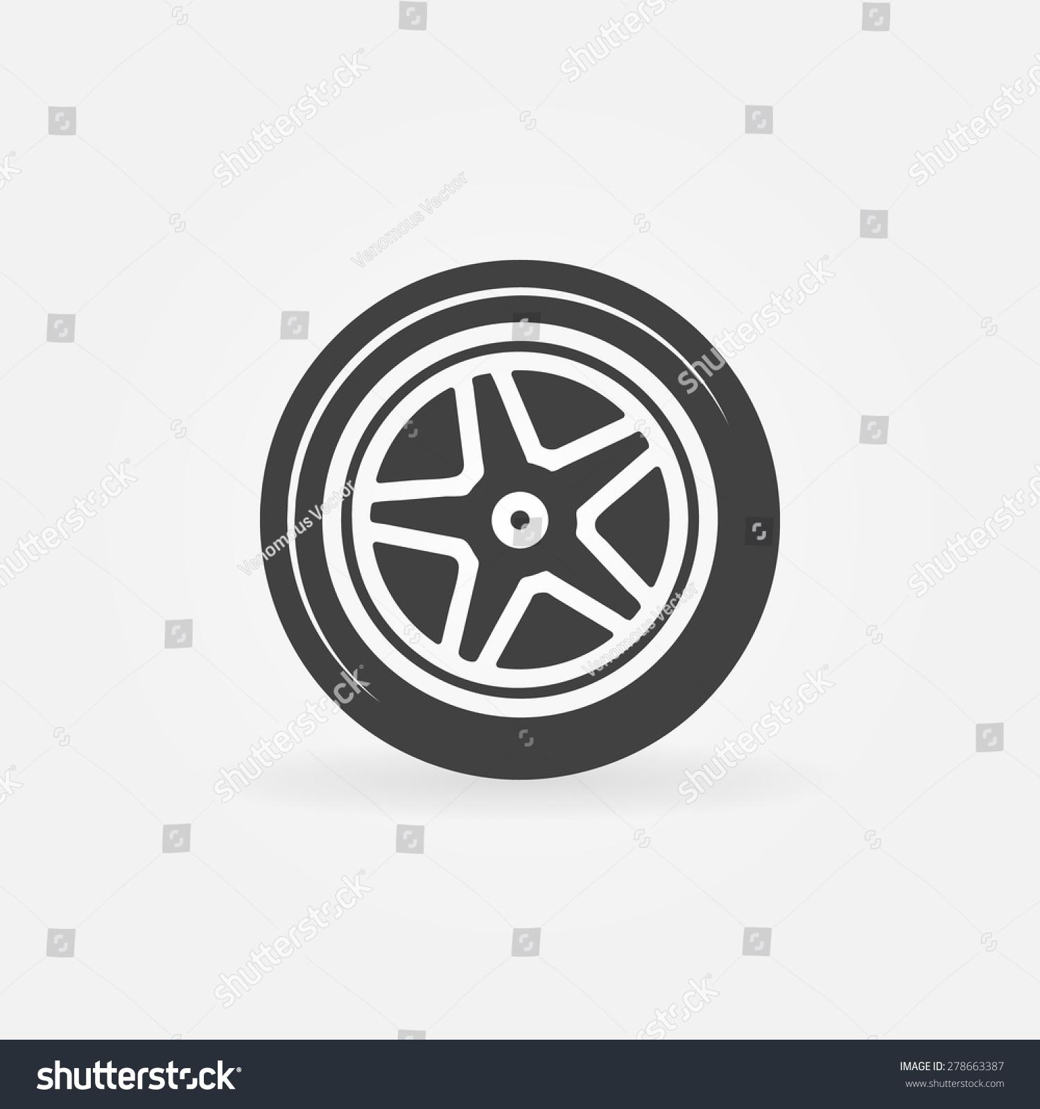 轮胎矢量图标或标志,黑色轮胎的象征-物体