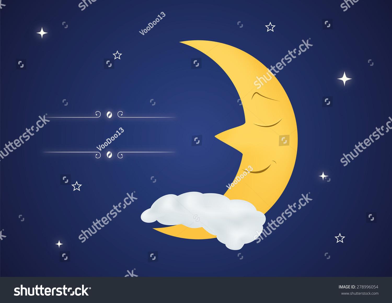 童话般的月亮睡觉-背景/素材,符号/标志-海洛创意()-.