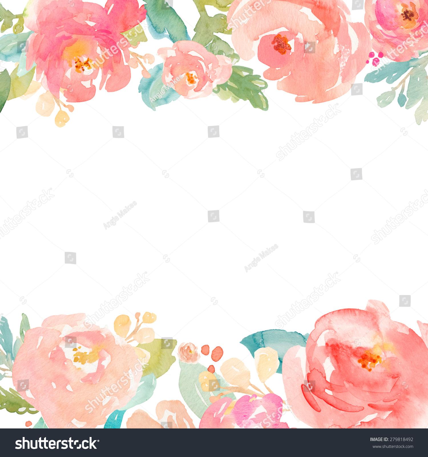 水彩畫水彩花卉牡丹畫的背景-背景/素材-海洛創意()