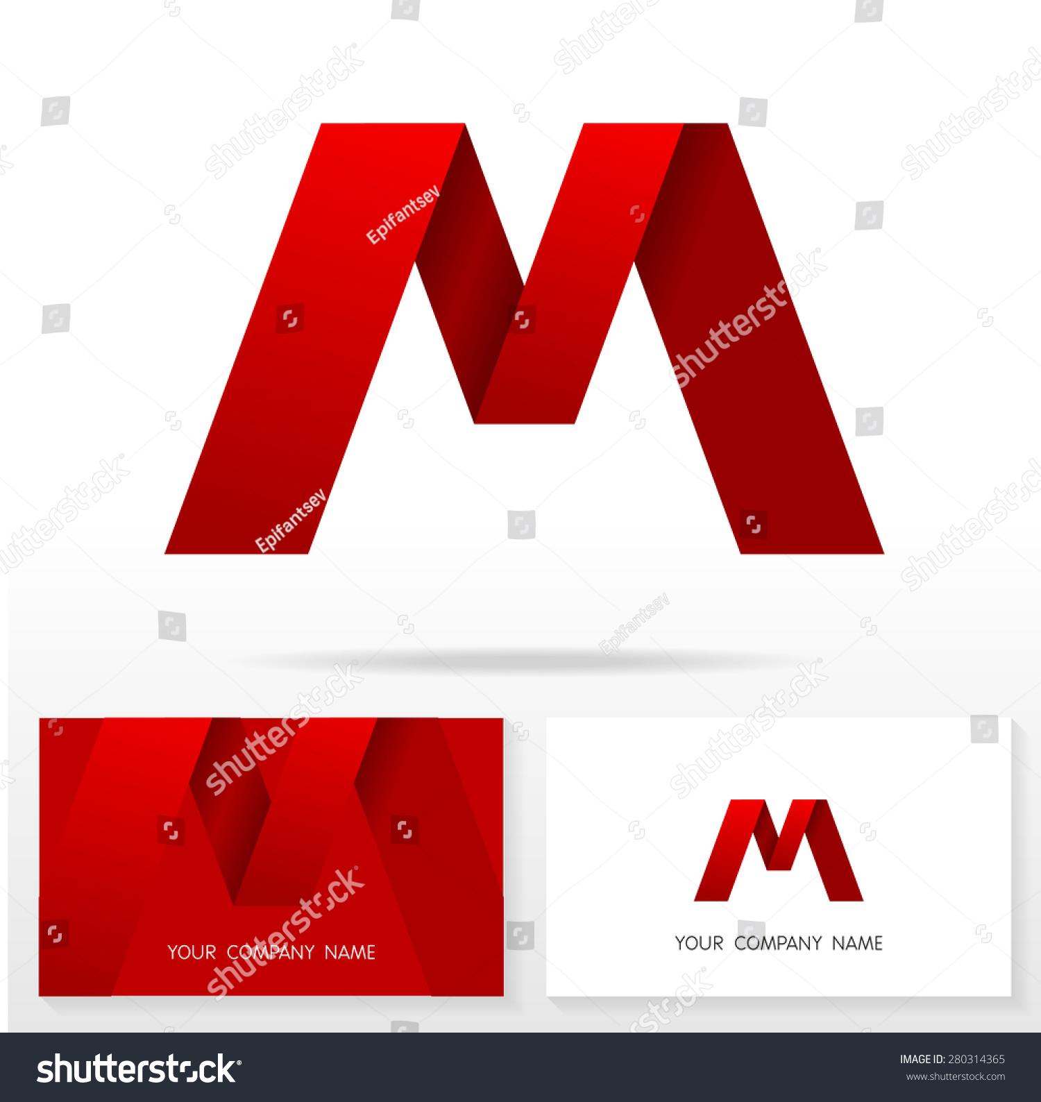 字母m标志图标设计模板元素——插图.