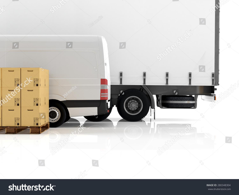 ppt素材小货车