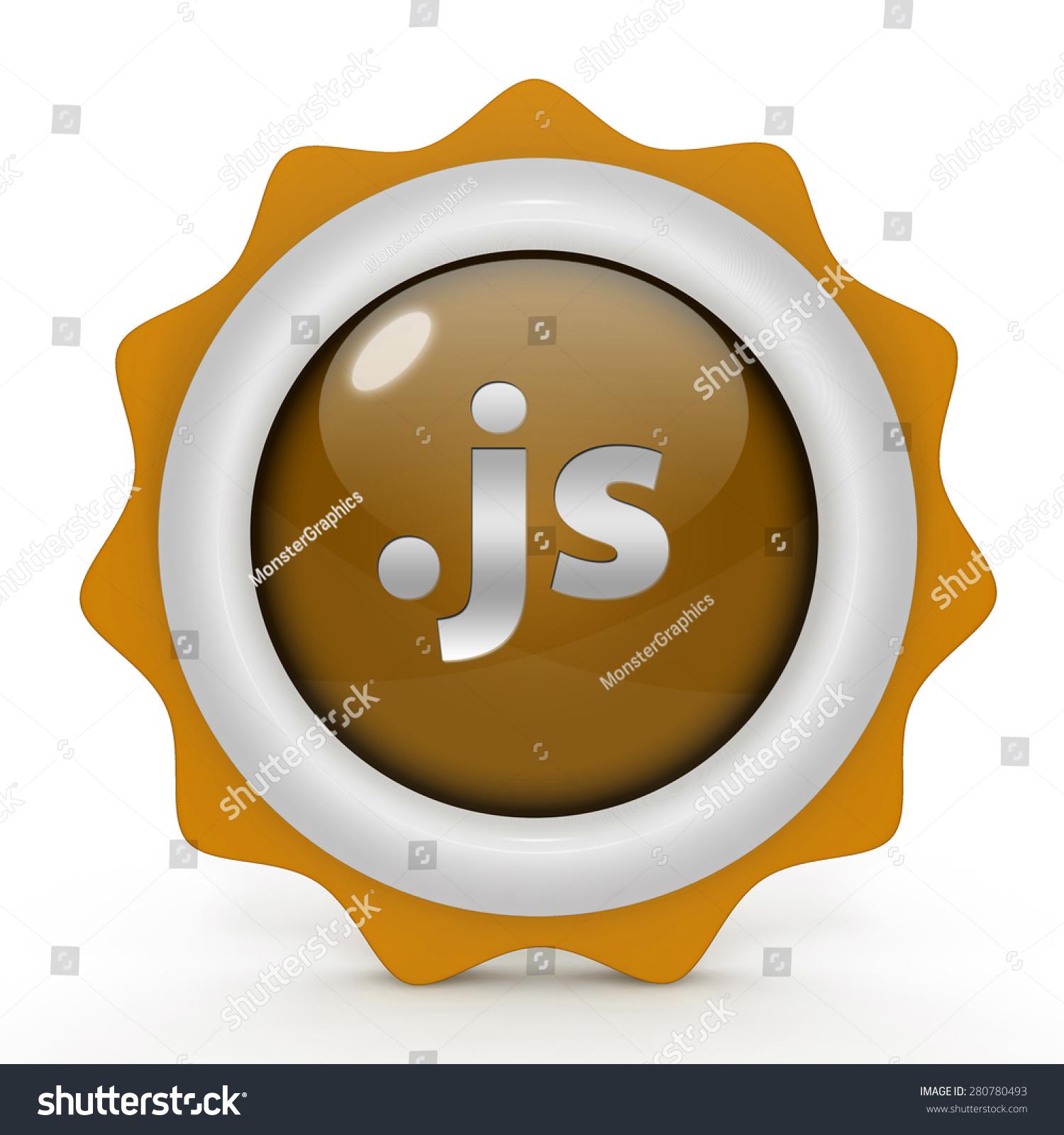 js圆形图标在白色背景-背景/素材,符号/标志-海洛()