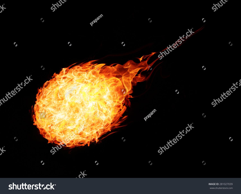 抽象的球火在黑色背景-背景/素材,抽象-海洛创意()-合