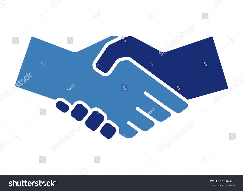 握手图标.矢量图-商业/金融
