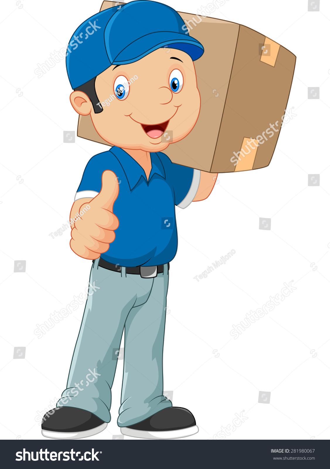 卡通邮递员给伸出大拇指-物体,人物-海洛创意(hellorf