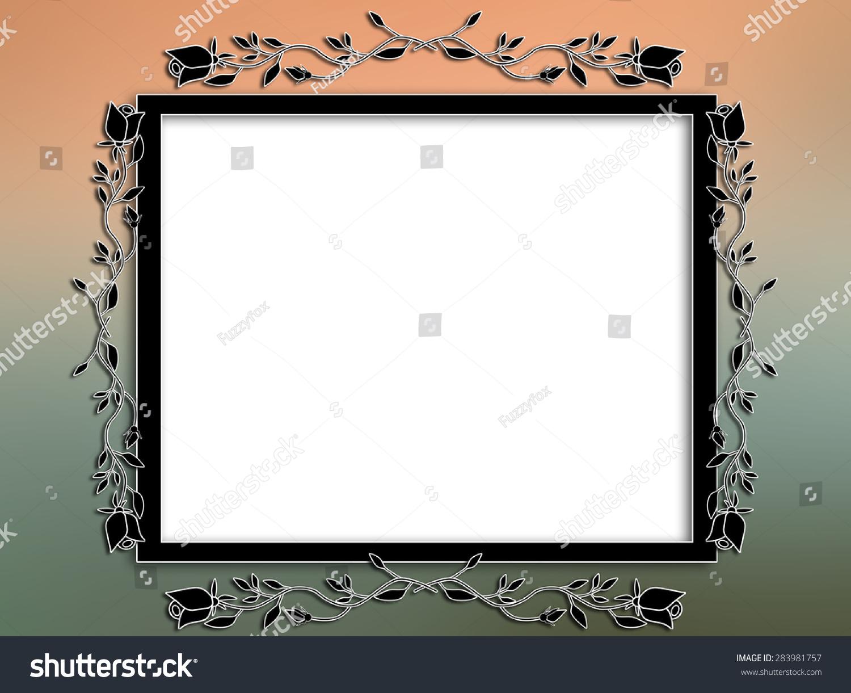 邀请花框架文本或图片模糊的背景