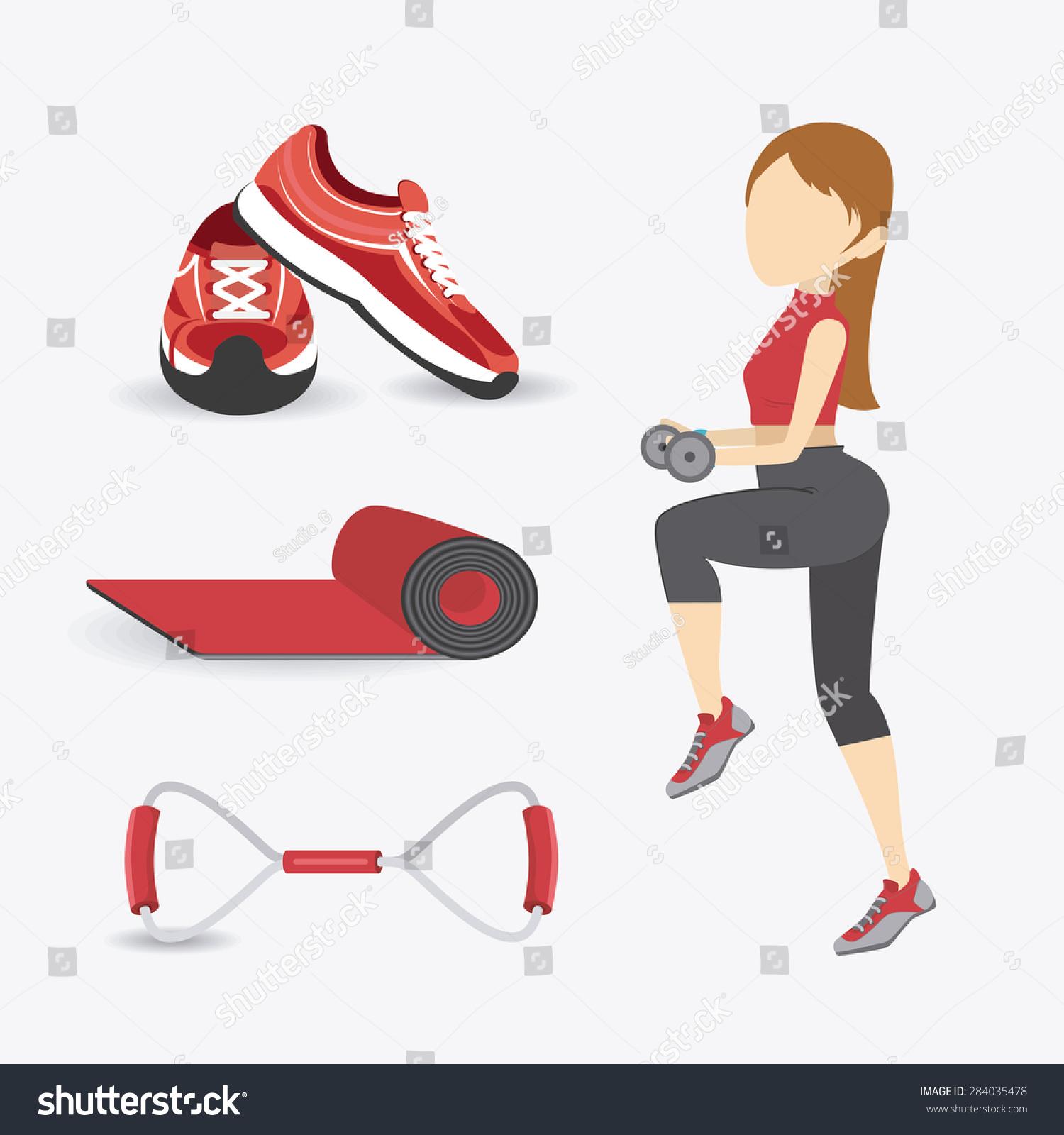 健身房在白色背景设计,矢量插图.-人物,运动/娱乐活动