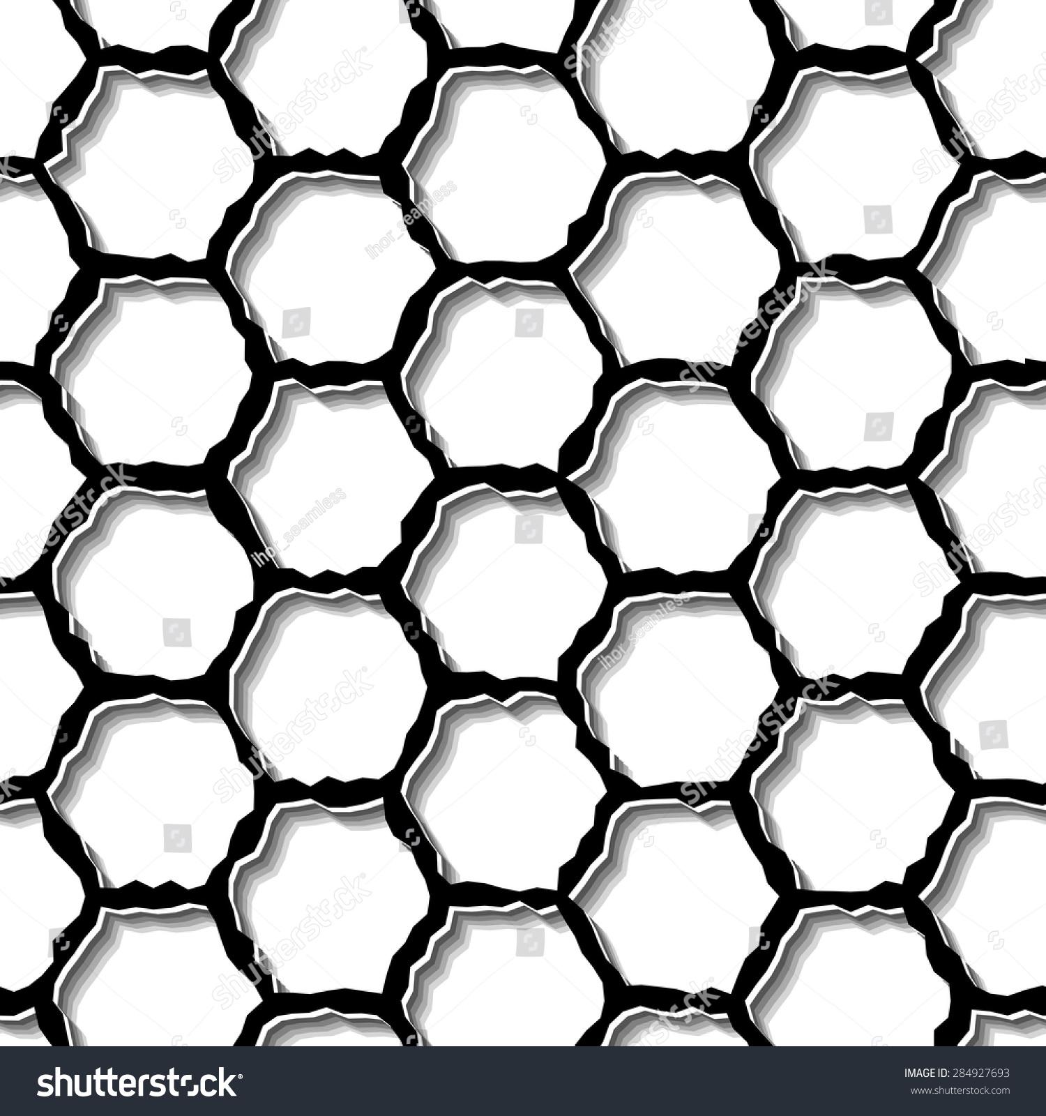 现代流行的六边形网格模式.重复抽象背景-背景/素材