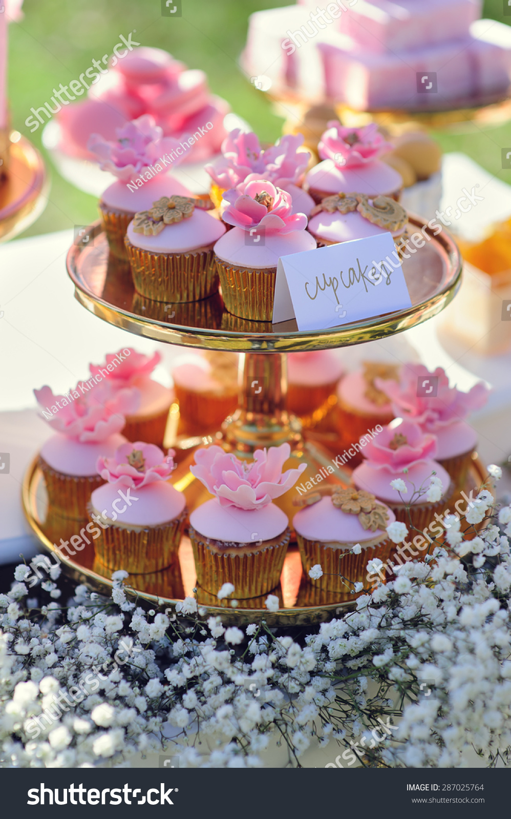 甜点和蛋糕装饰表户外聚会-食品及饮料,公园/户外-()