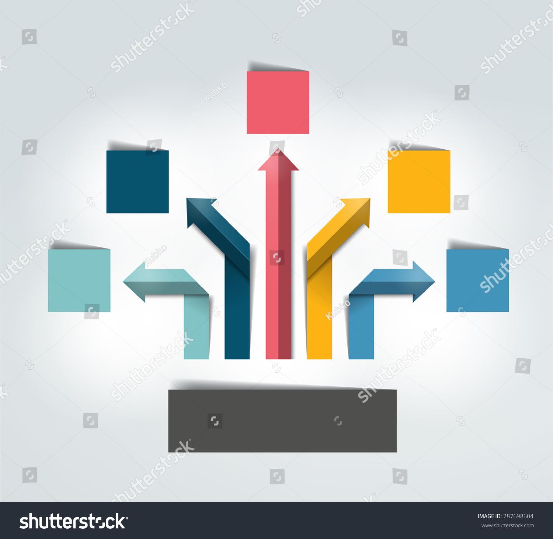 箭头信息图的流程图.向量