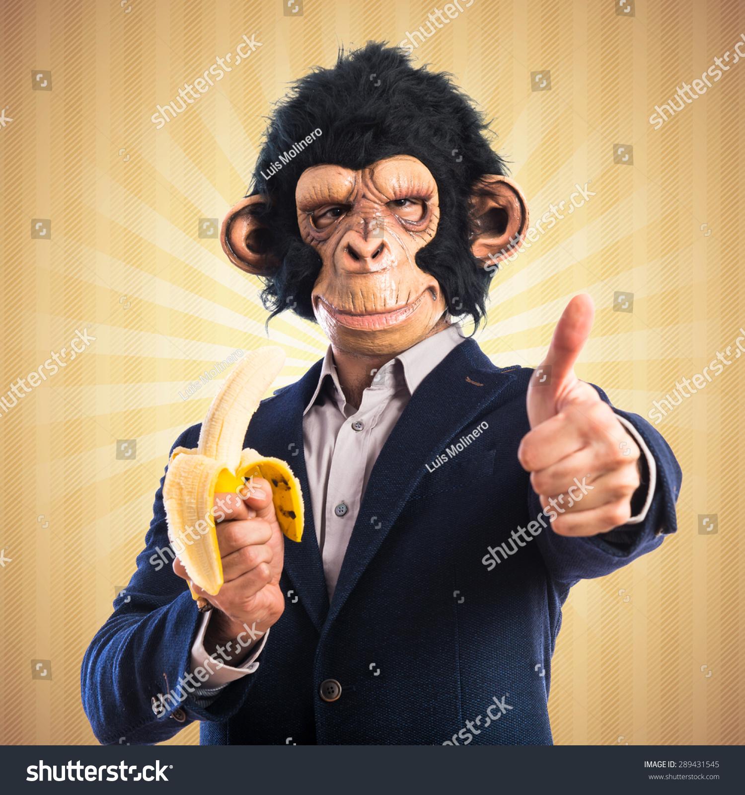 猴子吃香蕉过流行背景-背景/素材,人物-海洛创意()-合