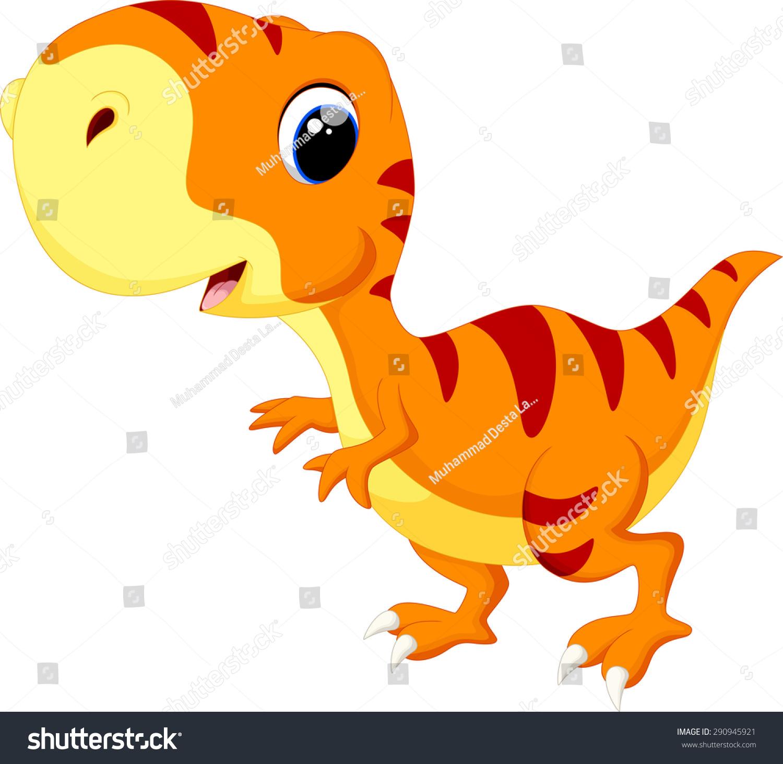 可爱的小恐龙卡通-动物/野生生物-海洛创意(hellorf)