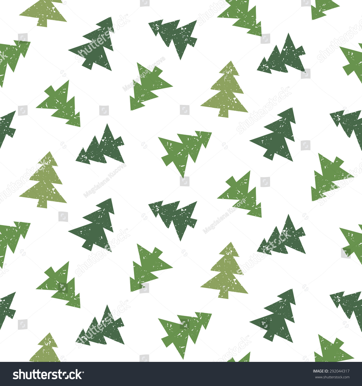 圣诞树向量无缝模式